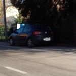 parcheggio abusivo via lavinino