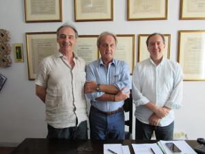 Roberto Tira (Presidente ASD), Aproniano Tassinari (Presidente Partecipanza), Angelo Rausa (Vicepresidente ASD)