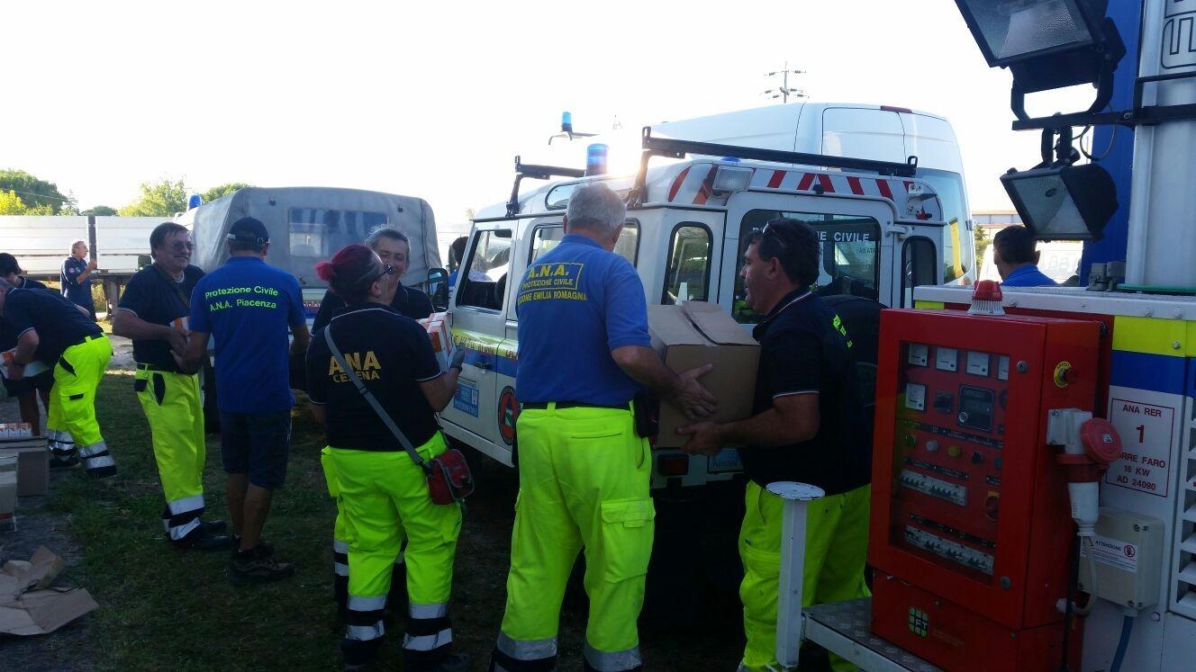 volontari per sisma centro italia