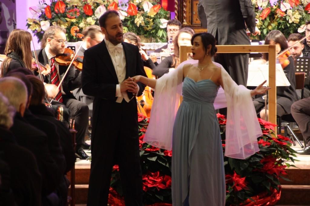 Il soprano Rakhsha Ramezani e il tenore Angelo Goffredi