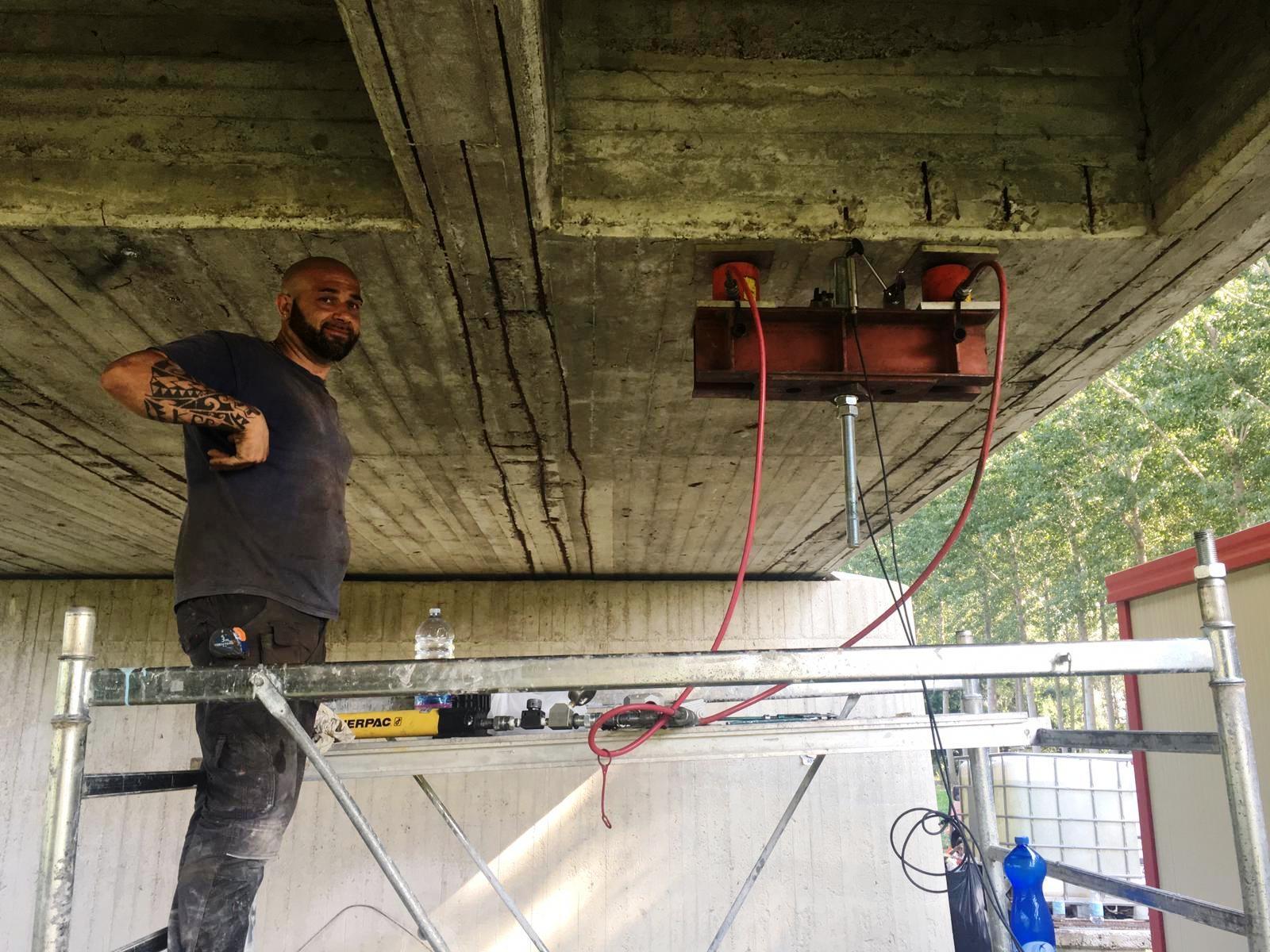 CENTO: Procede spedito il ripristino del Ponte Nuovo sul Reno