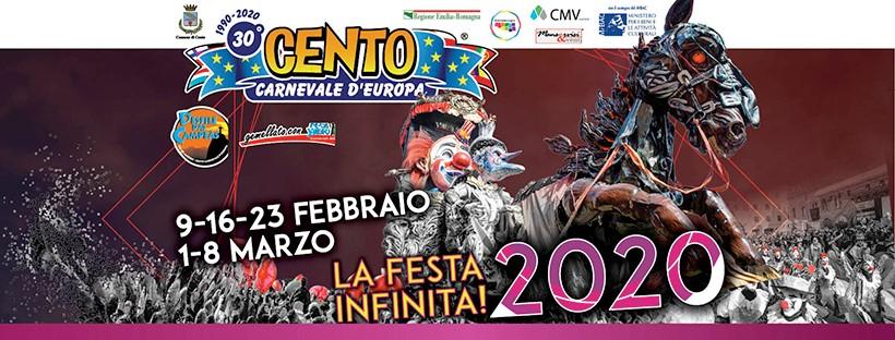 CENTO: sabato 25 la presentazione del Cento Carnevale d'Europa edizione 2020