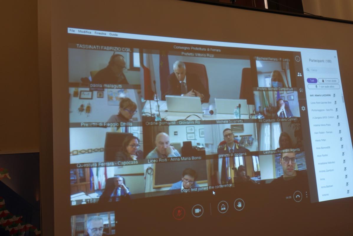 """""""Democrazia e libera informazione"""", si è svolto stamane il seminario organizzato dalla Prefettura di Ferrara in collaborazione con l'Ordine regionale dei giornalisti dell'Emilia Romagna"""